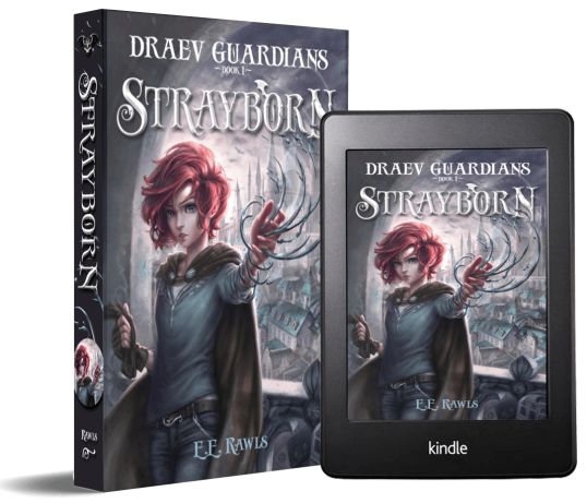 Strayborn, Draev Guardians, books like Percy Jackson, books like Harry Potter, fantasy and magic books, fantasy books for kids, books like Ranger's Apprentice, books like Mistborn, author E.E. Rawls,