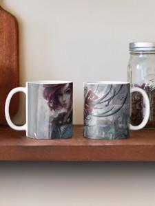 book mugs, book swag, book merchandise, fantasy book series, mug art,