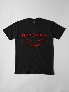 Draev Guardians merch, fantasy book series swag, fantasy book merch, fantasy book t-shirts, book apparel, book swag clothing, fantasy book art, vampire books, vampire t-shirts, vampire clothes, red wings, gold wings, wings art shirt,
